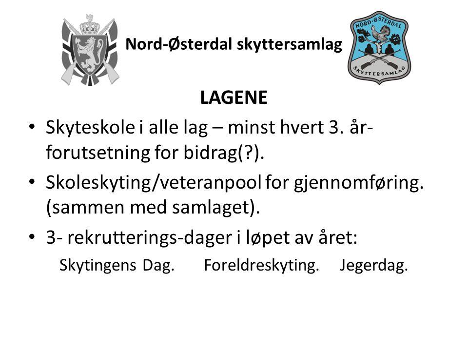 Nord-Østerdal skyttersamlag Målsetting: • Alle som går ut av 7.