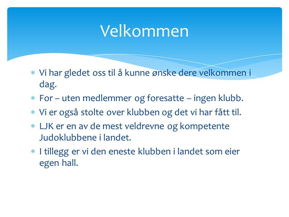 Velkommen til foreldremøte i Levanger Judoklubb.Møtet er i EiendomsMegler1-hallen.