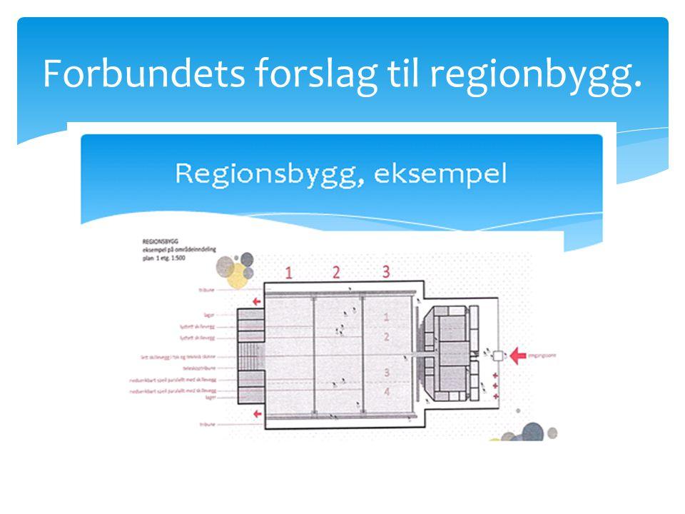 Forbundets forslag til regionbygg.