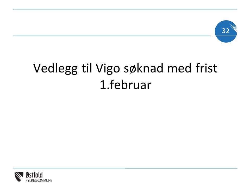 Vedlegg til Vigo søknad med frist 1.februar 32