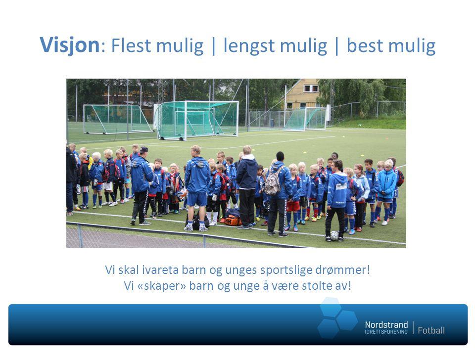 Visjon : Flest mulig | lengst mulig | best mulig Vi skal ivareta barn og unges sportslige drømmer.