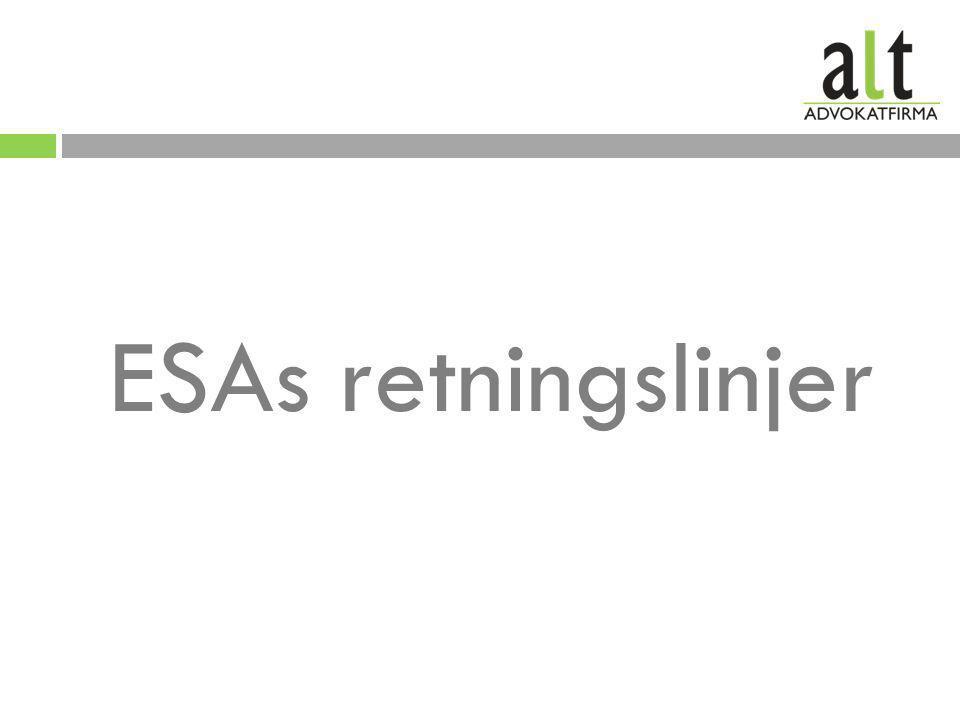 ESAs retningslinjer