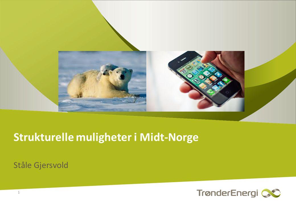 • TrønderEnergi eies av 24 kommuner i Midt-Norge • Er et av de største lokalt eide kraftselskap (10 mrd.
