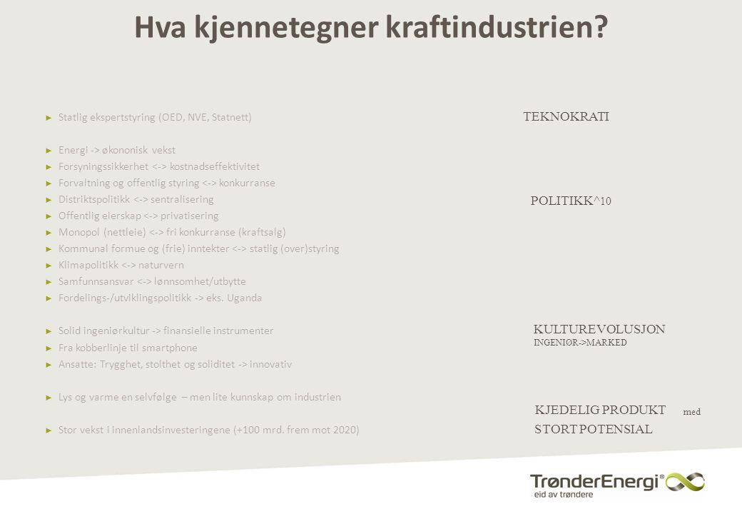 TrønderEnergi Netts ambisjon – å bli det mest effektive nettselskapet i Norge innen utgangen av 2016 … å være en ønsket samarbeidspartner – lokalt, nasjonalt og nordisk – knyttet til nytenkende kraftdistribusjon … å være den foretrukne integrasjonspartneren i Midt-Norge • Fremstå som en attraktiv integrasjonspartner gjennom fokus på effektivitet og nytenking • Vi tar ikke egne initiativ – sammenslåinger må være ønsket fra begge sider og strekke oss mot… Innta posisjonen som det mest effektive nettselskapet i Norge • Skape økonomisk gevinst for våre eiere, kunder og samfunnet gjennom å bli det mest effektive nettselskapet i Norge 14