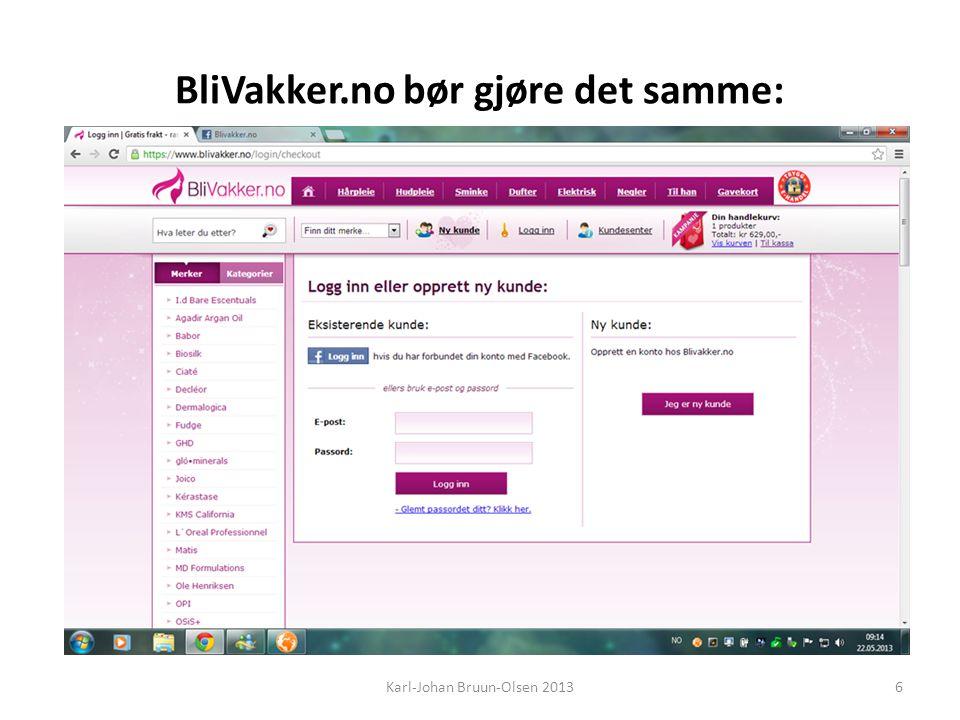 BliVakker.no bør gjøre det samme: Karl-Johan Bruun-Olsen 20136