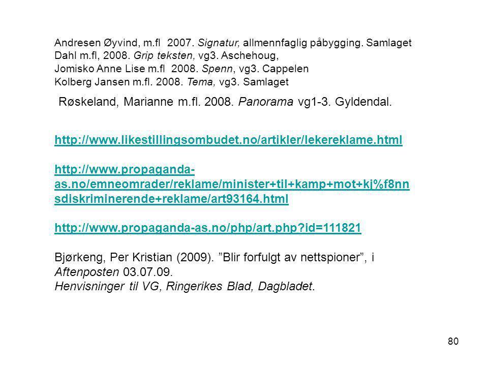 http://www.likestillingsombudet.no/artikler/lekereklame.html http://www.propaganda- as.no/emneomrader/reklame/minister+til+kamp+mot+kj%f8nn sdiskrimin