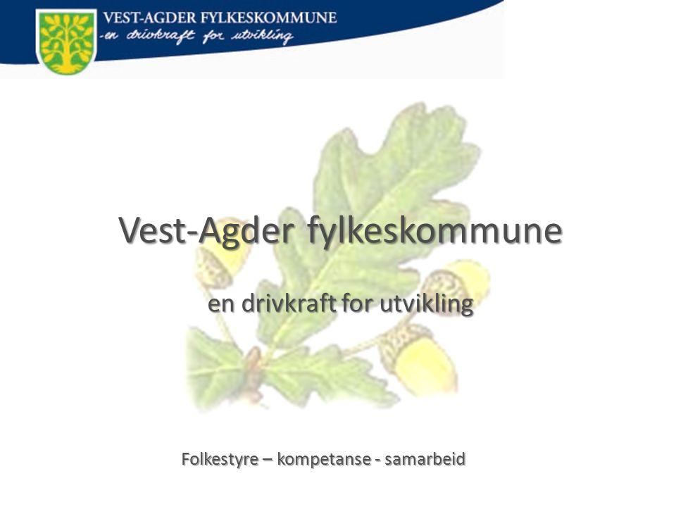 Vest-Agder fylke • Areal på 7.281 km 2 • 172.829 innbyggere pr 1.