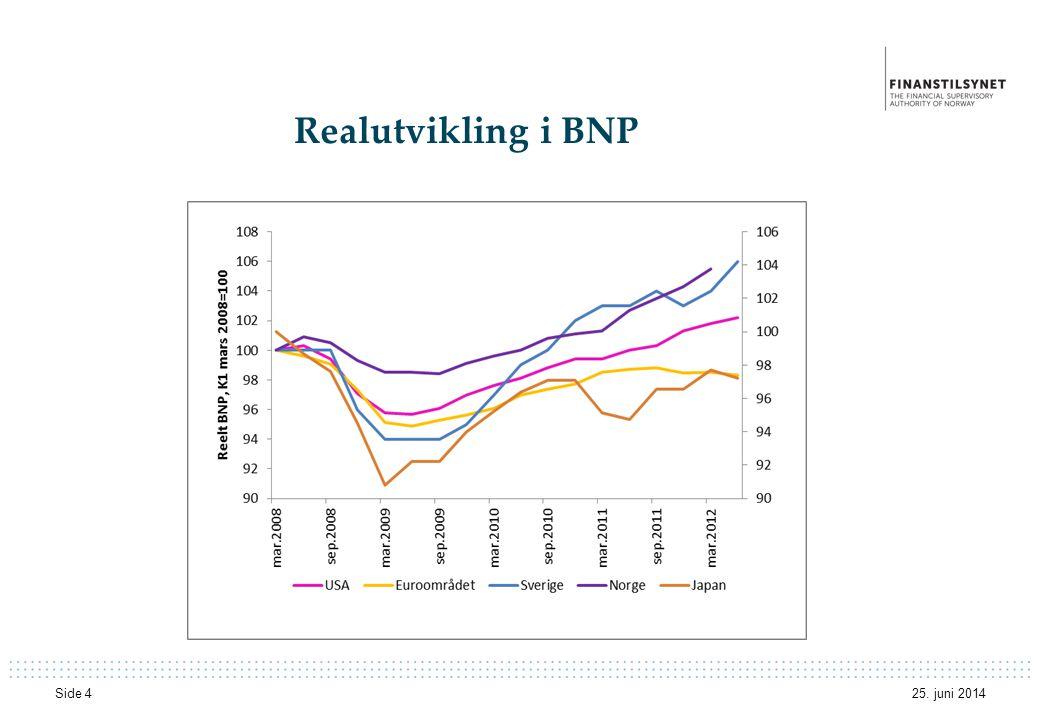 Realutvikling i BNP 25. juni 2014 Side 4