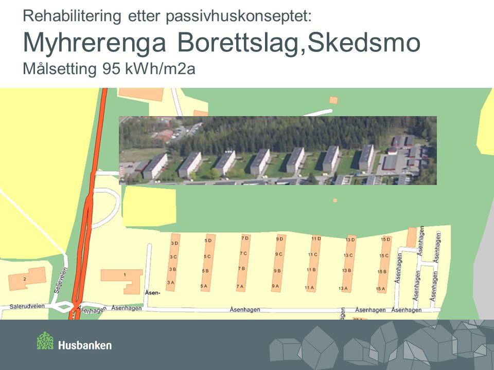 Rehabilitering etter passivhuskonseptet: Myhrerenga Borettslag,Skedsmo Målsetting 95 kWh/m2a