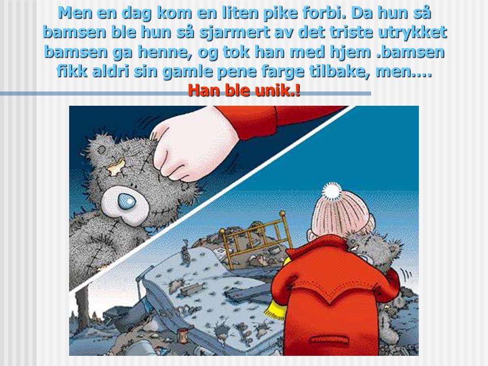 Den vesle bamsen hadde det veldig kaldt, og på den måten,ble pelsen hans grå og nesen blå.…