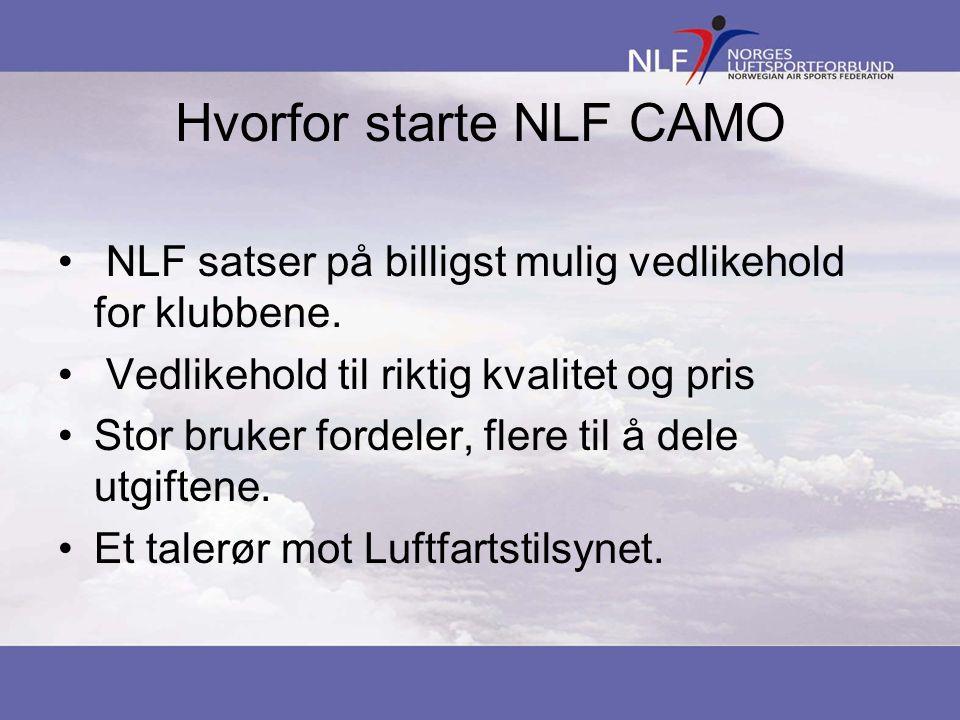 Hvorfor starte NLF CAMO • NLF satser på billigst mulig vedlikehold for klubbene.