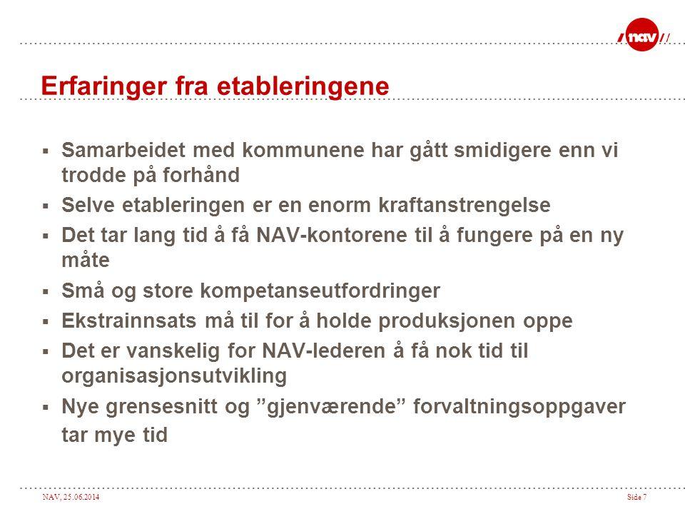NAV, 25.06.2014Side 8 Hvordan fungerer NAV kontoret i praksis .