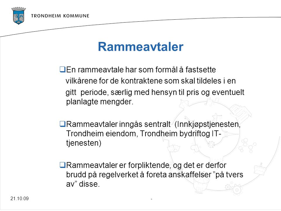 Terskelverdier for anbud:  EØS: Varer og tjenester1,650 millioner eks.
