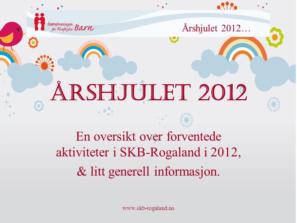 www.skb-rogaland.no Årshjulet 2012 En oversikt over forventede aktiviteter i SKB-Rogaland i 2012, & litt generell informasjon. Årshjulet 2012…