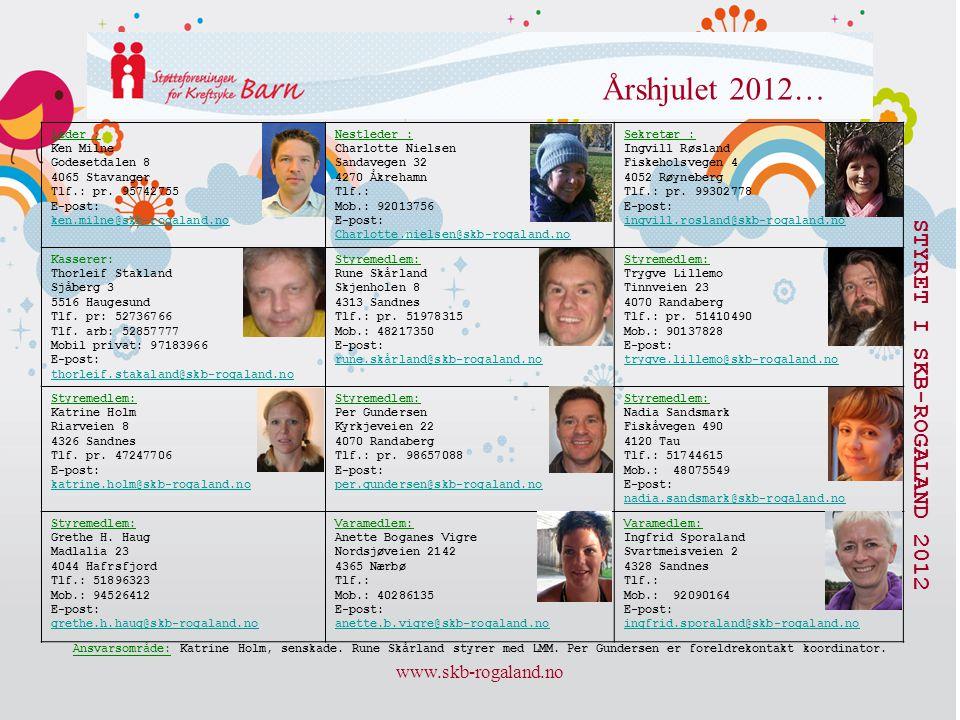www.skb-rogaland.no Årshjulet 2012… STYRET I SKB-ROGALAND 2012 Leder : Ken Milne Godesetdalen 8 4065 Stavanger Tlf.: pr. 95742755 E-post: ken.milne@sk