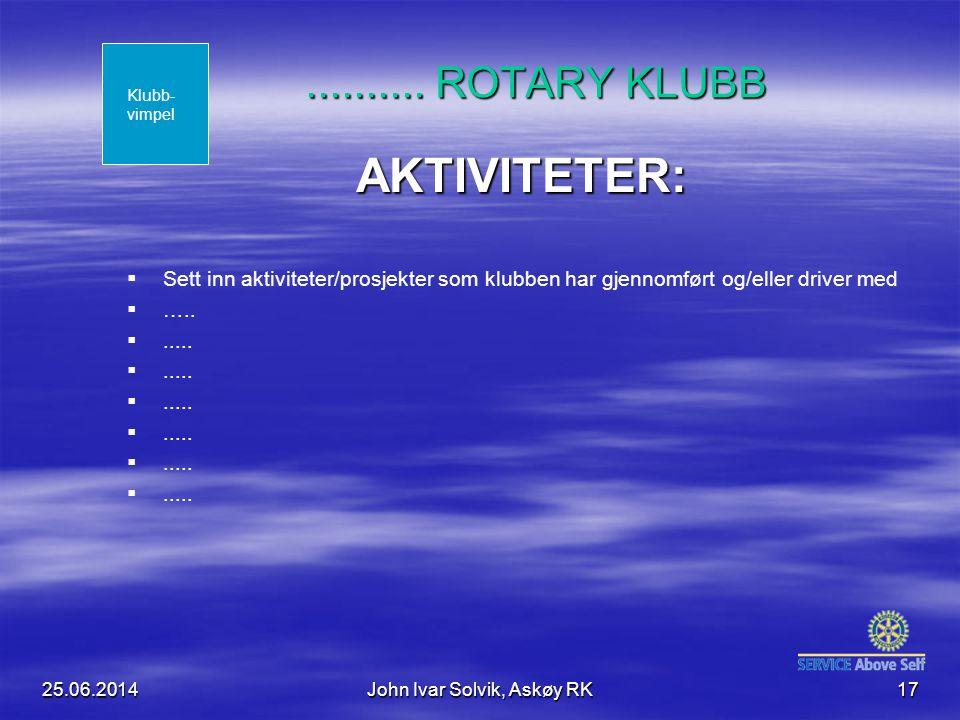 25.06.2014John Ivar Solvik, Askøy RK17..........