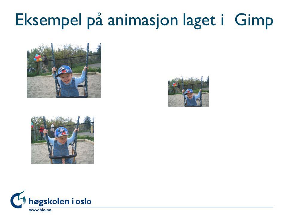 Eksempel på animasjon laget i Gimp