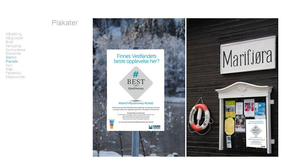 Målsetting Målgrupper Brief Kampanje Konkurranse Elementer Startkit Plakater Kort Klær Facebook Møtepunkter Plakater