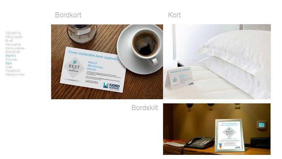 Bordkort Målsetting Målgrupper Brief Kampanje Konkurranse Elementer Startkit Plakater Kort Klær Facebook Møtepunkter Kort Bordskilt