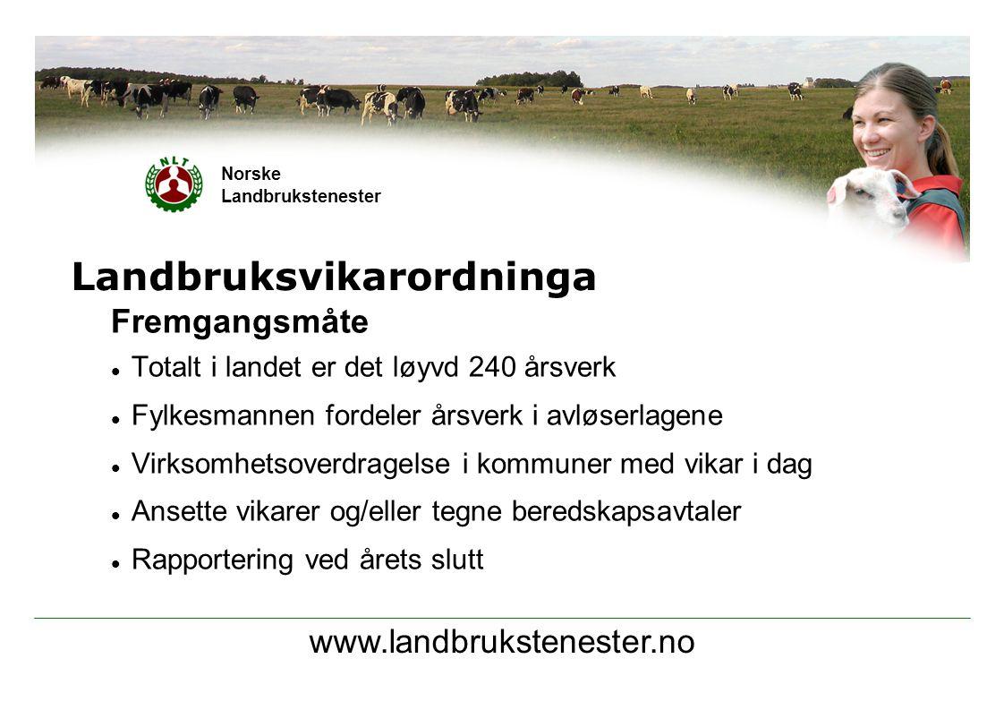 www.landbrukstenester.no Norske Landbrukstenester Landbruksvikarordninga Hva gjør laget.