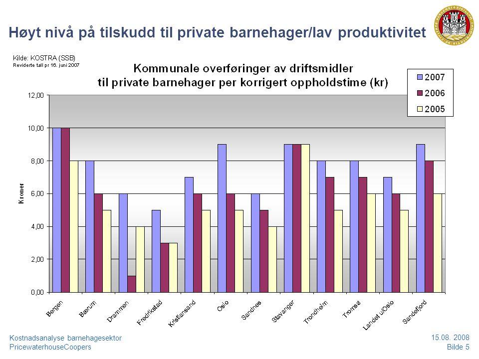 PricewaterhouseCoopersBilde 6 Kostnadsanalyse barnehagesektor 15.08.