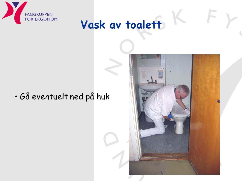 Vask av toalett • Gå eventuelt ned på huk