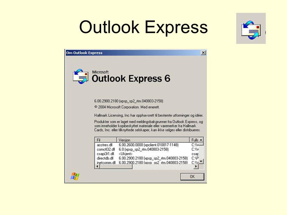 Outlook Express Verktøy-Alternativer-Send Velg arkfanen Send