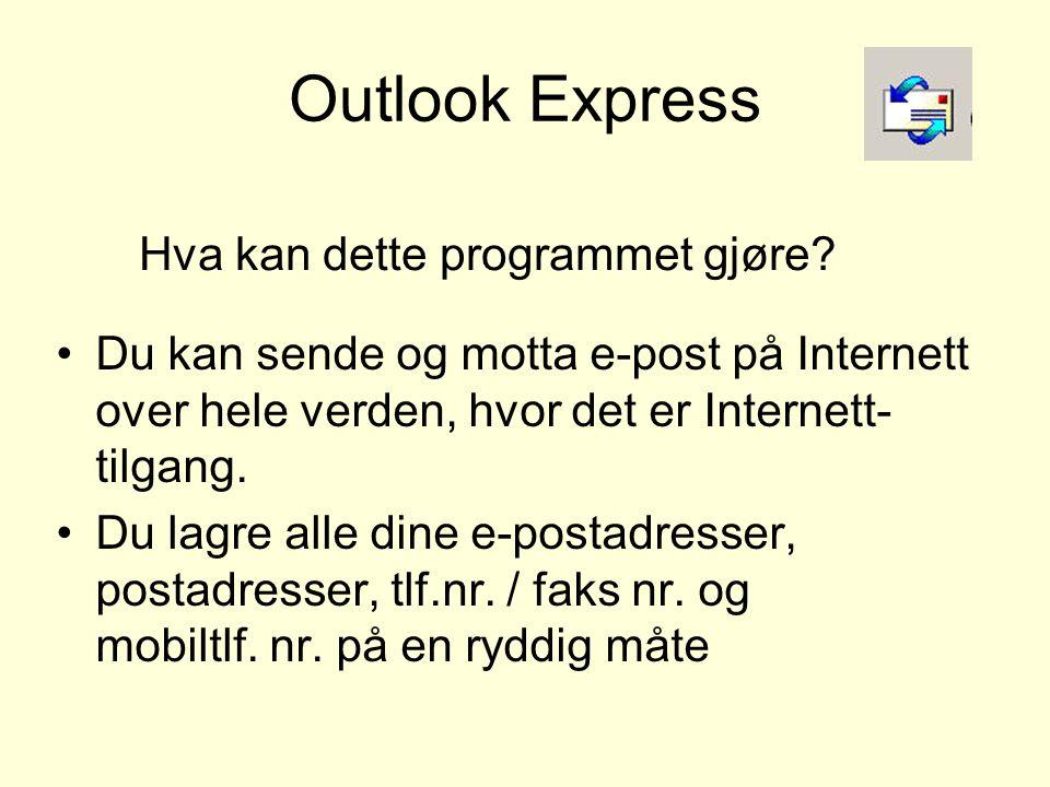 Outlook Express Verktøy Alternativer -Signatur