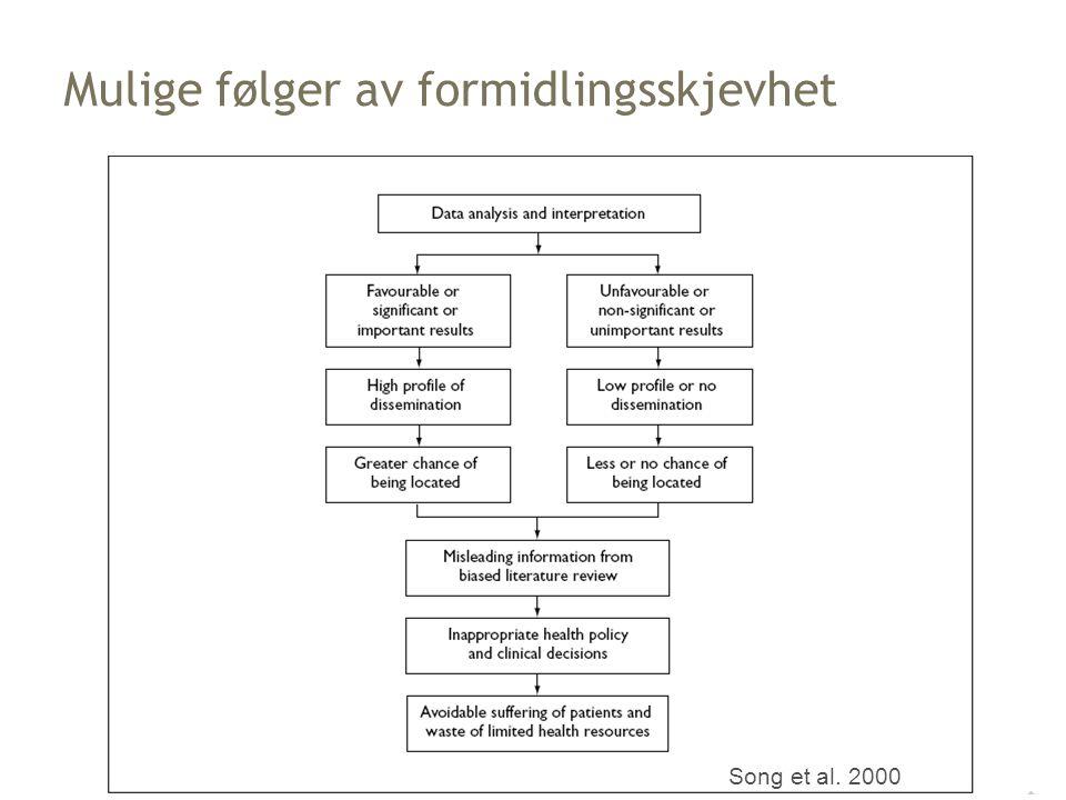Song et al. 2000 Mulige følger av formidlingsskjevhet