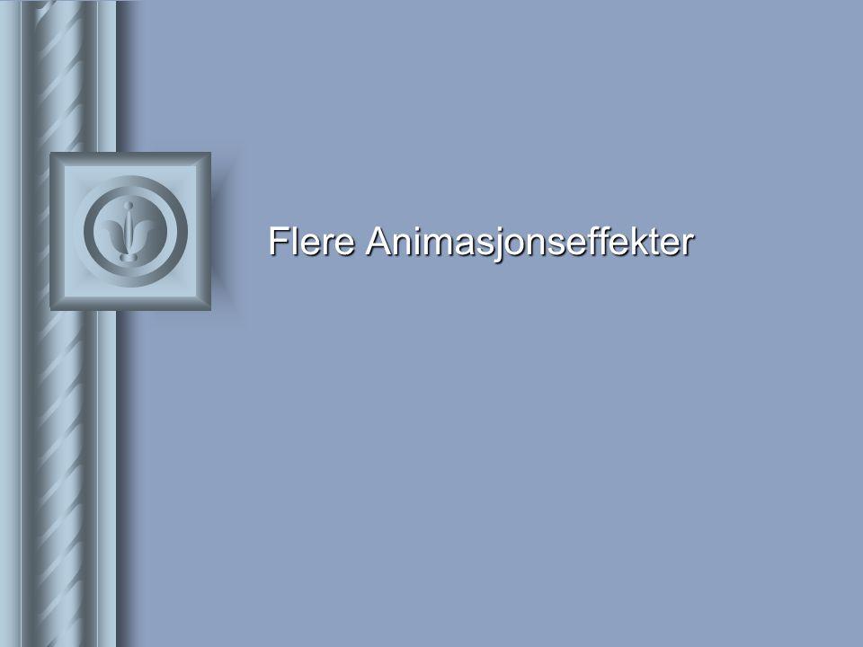 Flere Animasjonseffekter