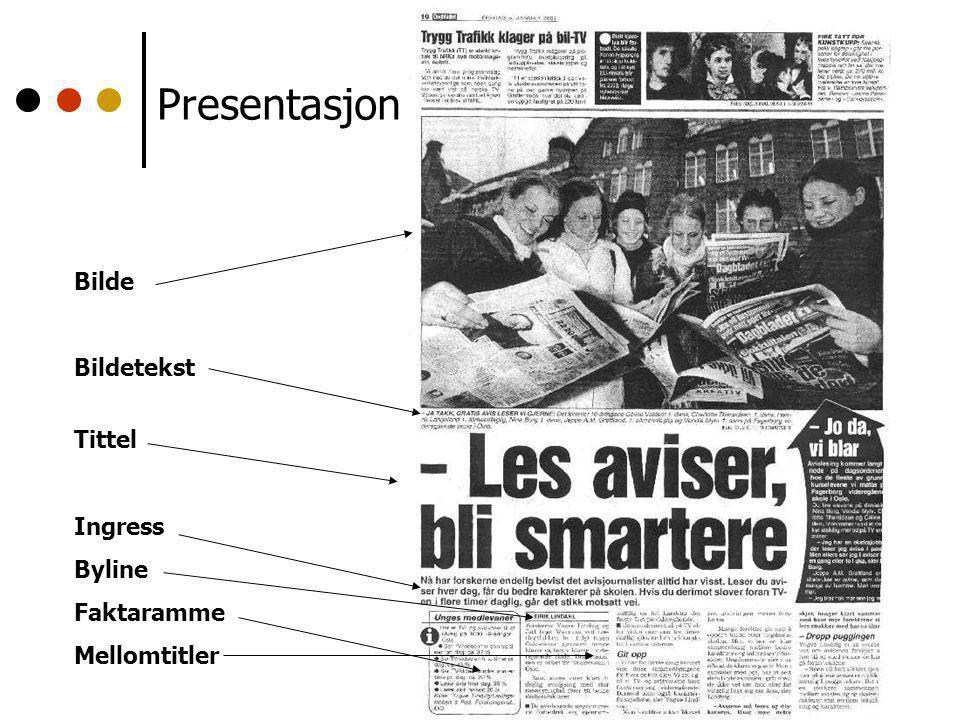 Presentasjon Bilde Bildetekst Tittel Ingress Byline Faktaramme Mellomtitler