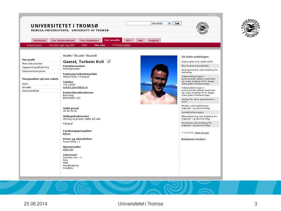 Universitetet i Tromsø425.06.2014 Innlogging i iKnowBase