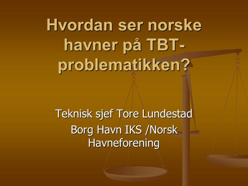 Hvordan ser norske havner på TBT- problematikken.