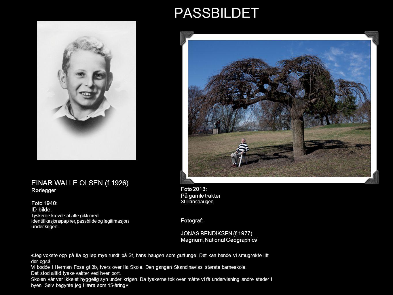 PASSBILDET EINAR WALLE OLSEN (f.1926) Rørlegger Foto 1940: ID-bilde. Tyskerne krevde at alle gikk med identifikasjonspapirer, passbilde og legitimasjo