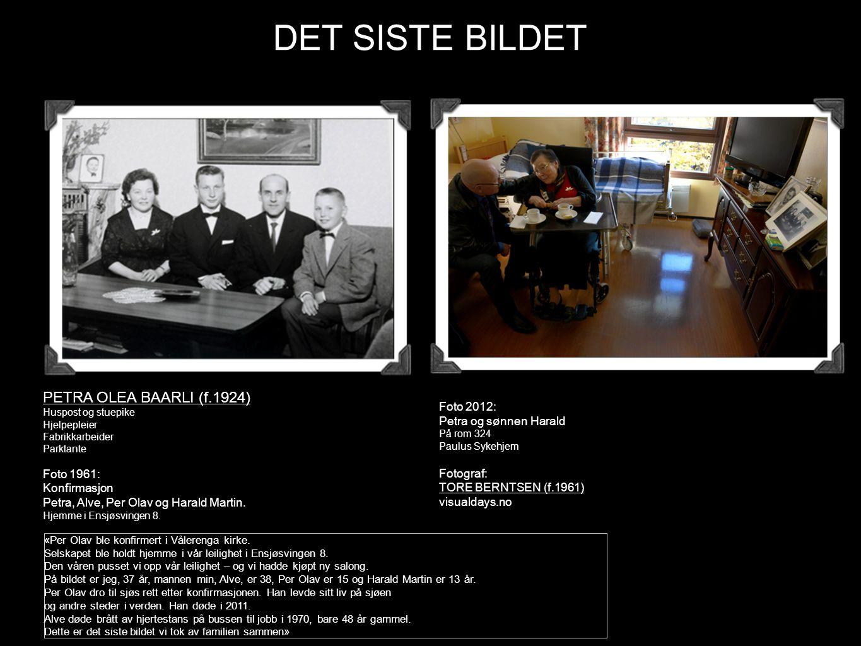 «Per Olav ble konfirmert i Vålerenga kirke. Selskapet ble holdt hjemme i vår leilighet i Ensjøsvingen 8. Den våren pusset vi opp vår leilighet – og vi