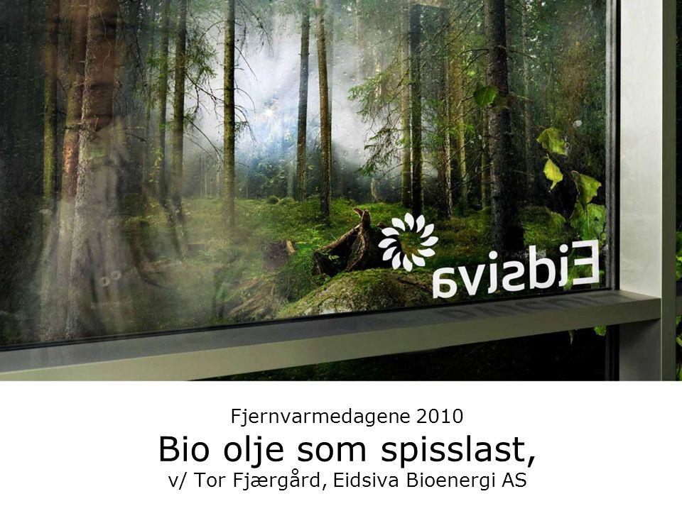 Fjernvarmedagene 2010 Bio olje som spisslast, v/ Tor Fjærgård, Eidsiva Bioenergi AS