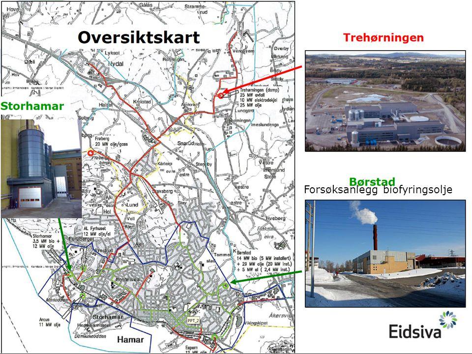 Målsetting Biofyringsolje som spisslast på Børstad VS til erstatning for lett fyringsolje.