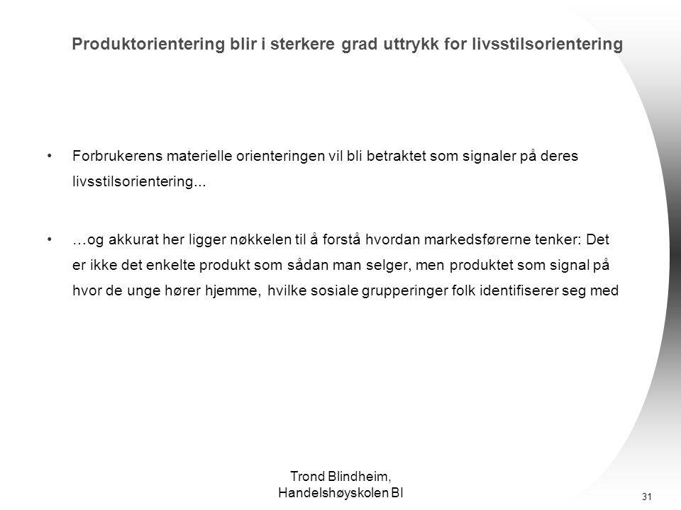 Trond Blindheim, Handelshøyskolen BI 30 Hva vet vi: Hvorfor slik nytelsessyk forbrukermentalitet.