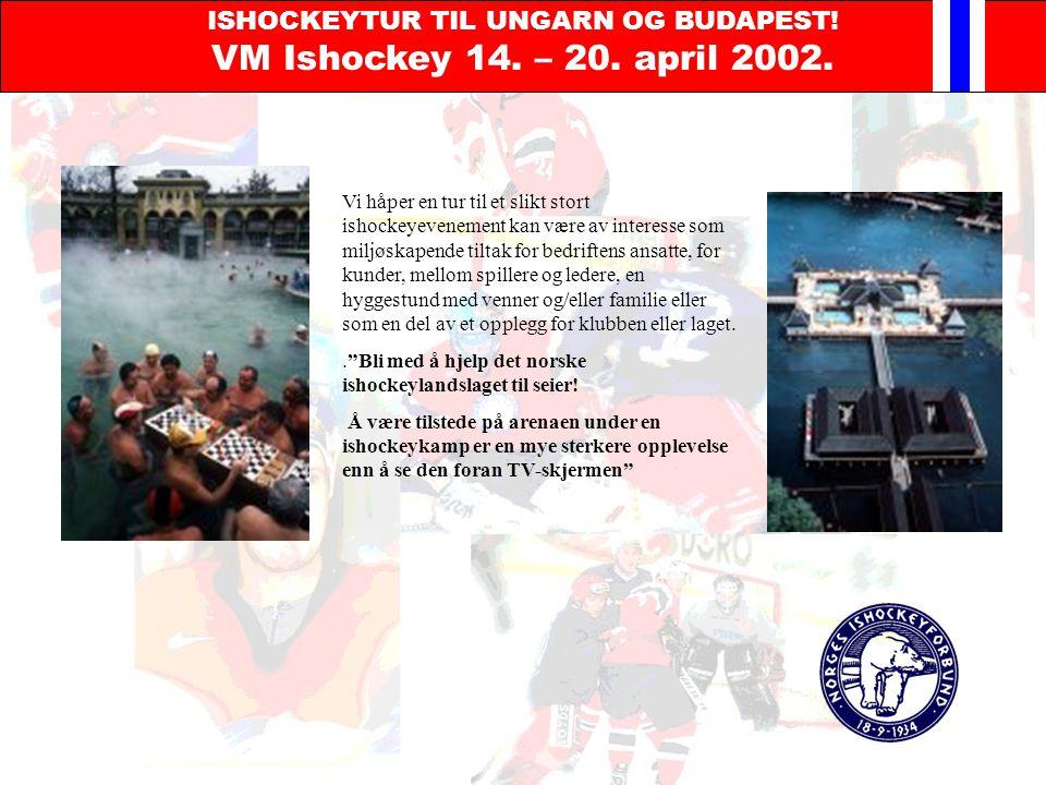 ISHOCKEYTUR TIL UNGARN OG BUDAPEST. VM Ishockey 14.