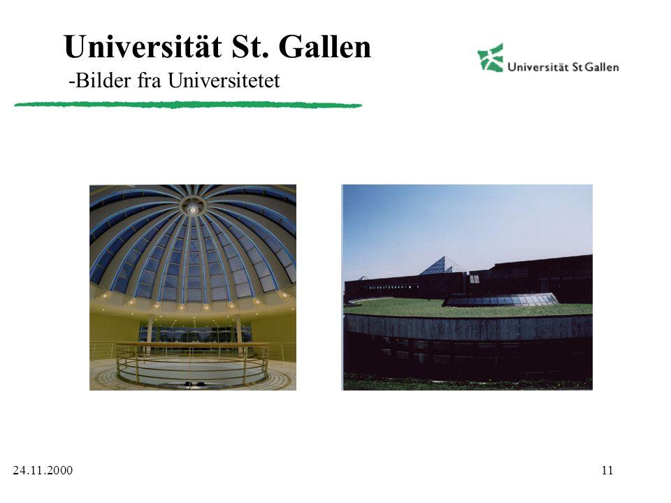 11 Universität St. Gallen -Bilder fra Universitetet 24.11.2000