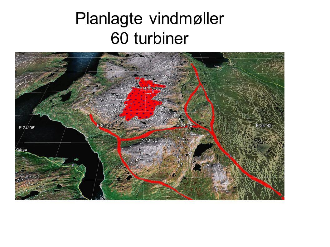 Planlagte vindmøller 60 turbiner