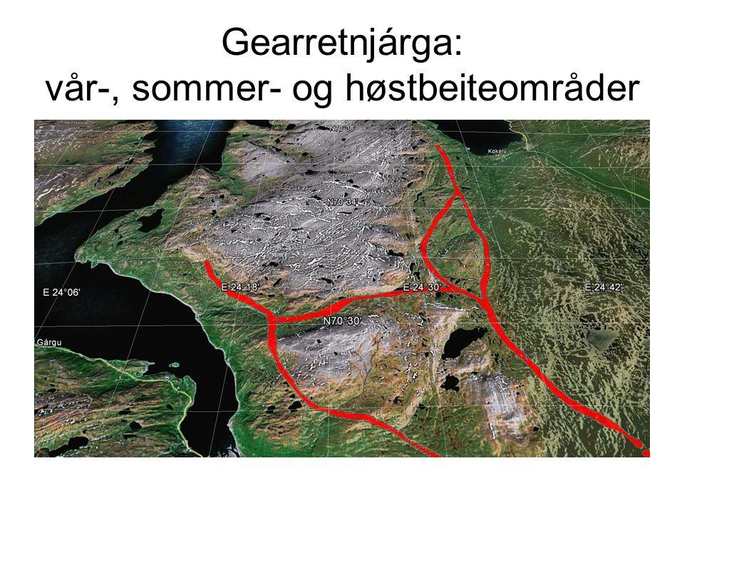 Gearretnjárga: vår-, sommer- og høstbeiteområder