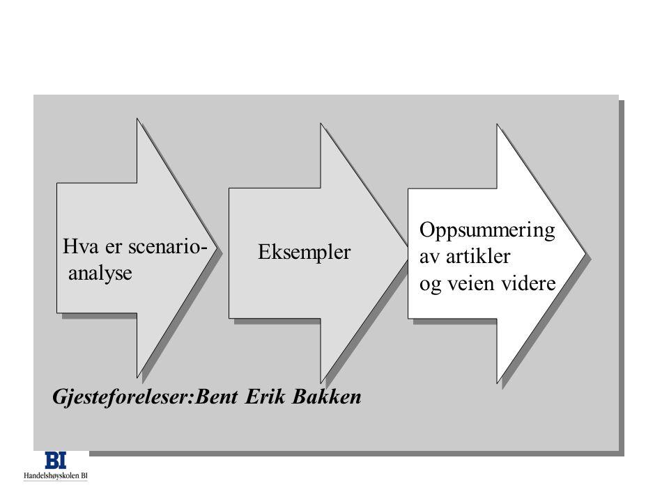 Aksept for ny strategi •Gjenskap strategisk logikk hos dem som vil bli omfattet av ny strategi –Og hos dem som skal implementere/detaljere den •Og på den måten øke sannsynligheten for suksess I implementering