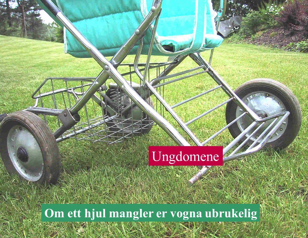 Om ett hjul mangler er vogna ubrukelig Ungdomene