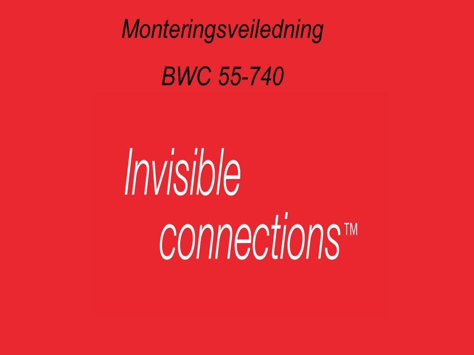 Monteringsveiledning BWC 55-740 Trinnløs høydejustering.