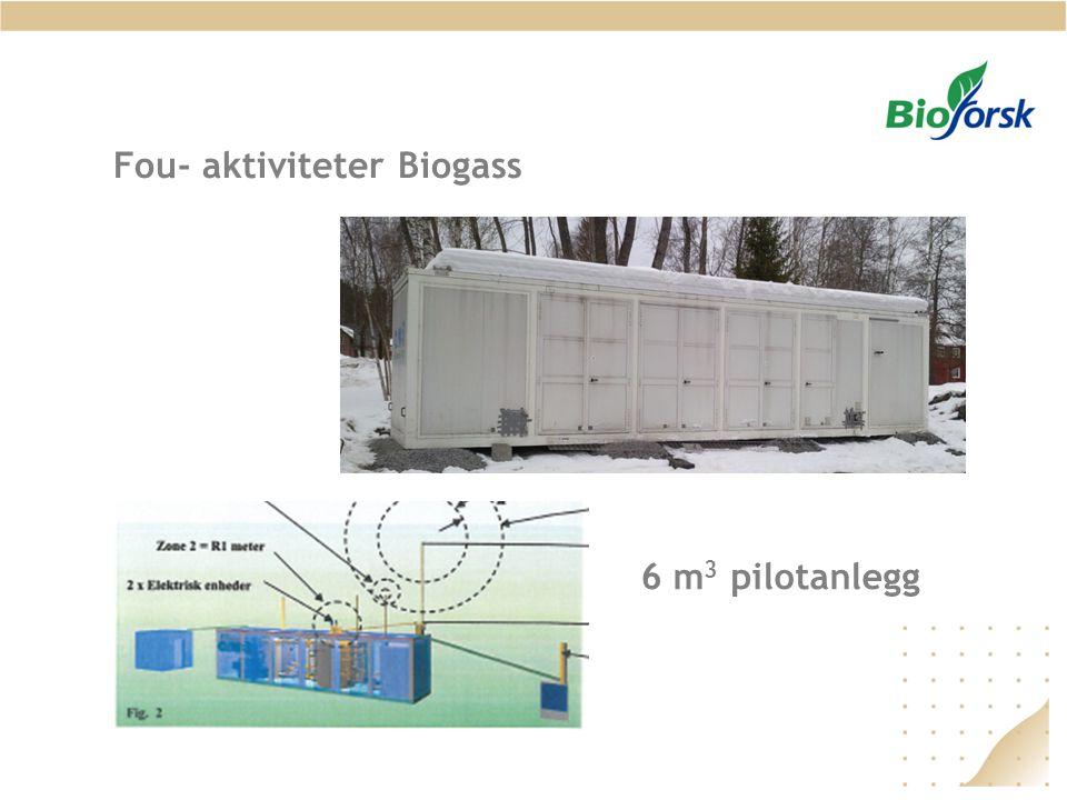 Fou- aktiviteter Biogass 6 m 3 pilotanlegg