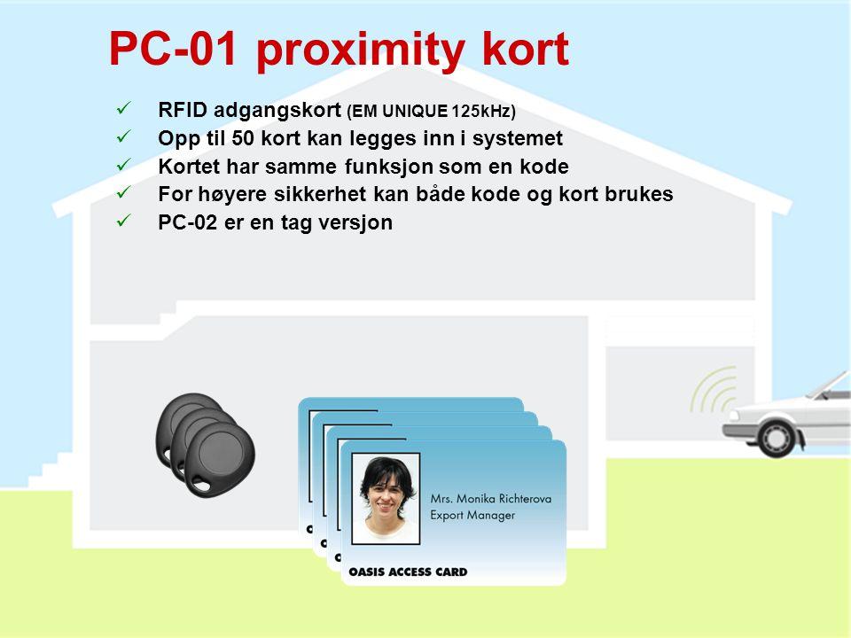 RC-80 fjernkontroll  2 kapslinger (2 eller 4 knapper)  Tastelås (kun med 4 knapper)  Kan også brukes med UC, AC, JA-80L og CA-180x  Alkaliske batt