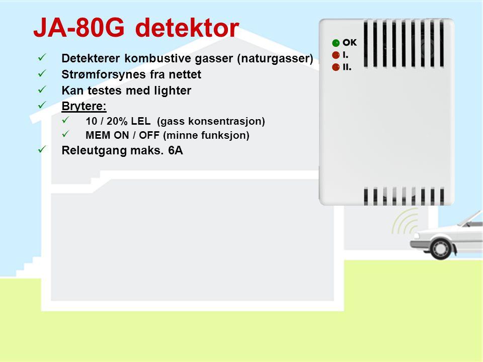 JA-80H utendørs kodetastatur Og WJ-80 interface  Innebygget RFID leser  Dørklokkefunksjon (for JA-80L)  Kan styre elektrisk sluttstykke (Z8-12V) 