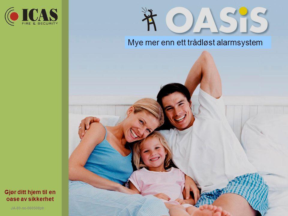 Gjør ditt hjem til en oase av sikkerhet JA-80-no-060508ph Mye mer enn ett trådløst alarmsystem