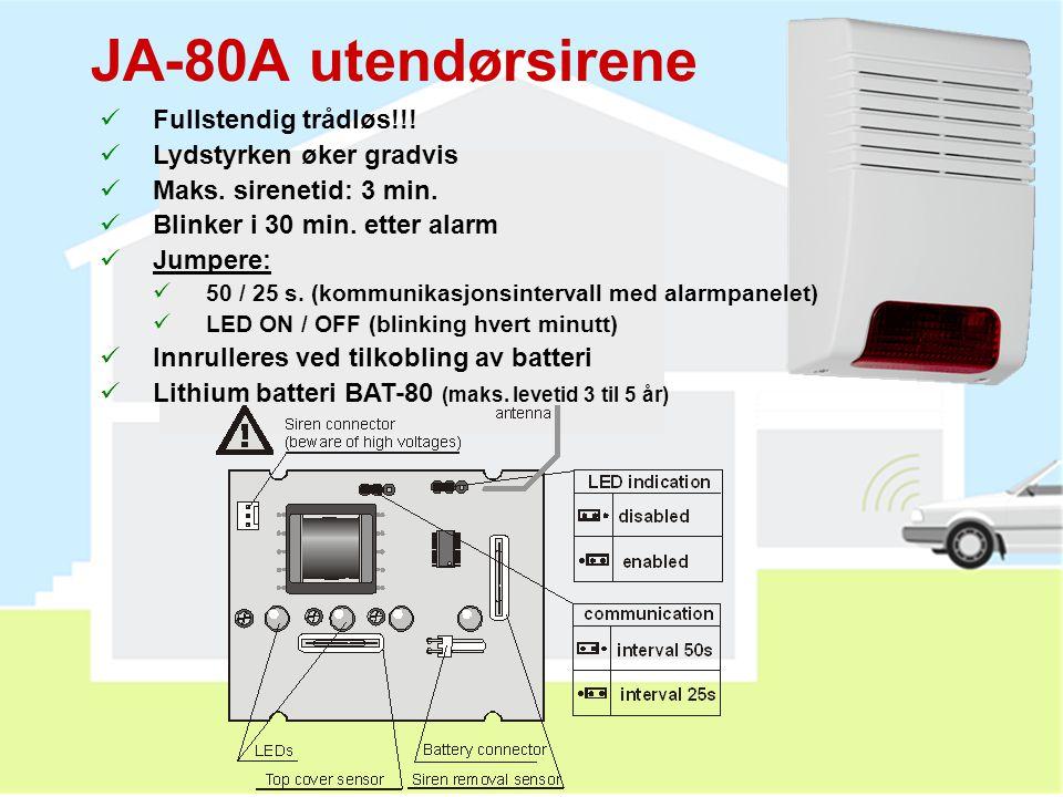 •Bildene vises på: http://img.jablotron.cz JA-84P detektor med innebygget kamera